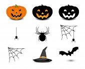 Set Icon Of Halloween