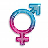 stock photo of transgendered  - transgender identity symbol isolated on white background - JPG