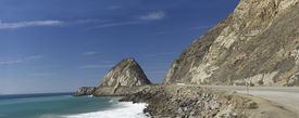 image of twisty  - Twisty California Pacific Coast Highway One at Point Mugu in Ventura County  - JPG