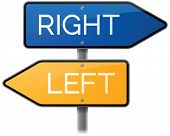 Right or Left Signs