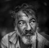 stock photo of homeless  - homeless man - JPG