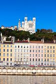 Famous View Of Lyon Over The Saone River