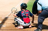 Teen Baseball Catcher