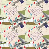 Seamless Pattern Of Stationery, Letter