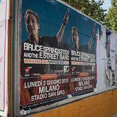 Billboard of Springsteen concert