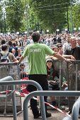 Fans at Springsteen concert