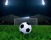 picture of amusement  - Soccer ball on the penalty point - JPG
