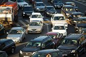 MOSCOW - JUNE 13: Cars stands in traffic jam on the city center, June 13, 2013, Moscow Russia. Mosco