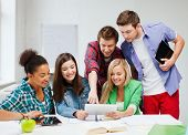foto of classmates  - education concept  - JPG