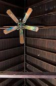Broken Ceiling Fan In Abandoned Building