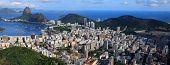 Vista panorámica del paisaje de Rio De Janeiro, Brasil