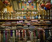 Shop selling hookahs, lamps and embroidery