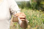 stock photo of groundwater  - researcher testing the water quality - JPG