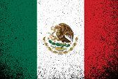 México. Grunge ilustração a bandeira mexicana