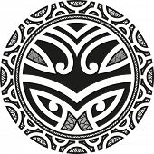 Traditional Maori Taniwha tattoo design. Raster image. Find an editable version in my portfolio.