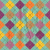 Seamless retro background with rhombus on a crumpled paper. Eps10