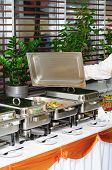 picture of chafing  - chafing dish heater filled with ready vegetable kebab - JPG