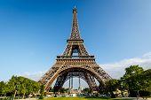 Eiffel Tower And Champ  De Mars In Paris, France