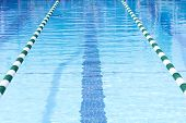 foto of swimming  - Swimming Pool Swim Lanes - JPG