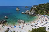 Beach near Parga city in Greece