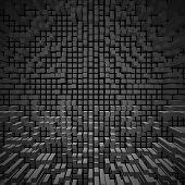 Texture Of Blocks On A Dark Background