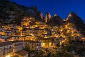 Castelmezzano Italy at Night