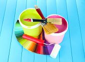 stock photo of paint pot  - Set for painting - JPG