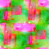 sunlight abstract seamless painted yellow, pink watercolor backg