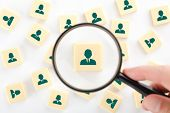stock photo of recruiting  - Human resources personal audit and assessment center concept  - JPG