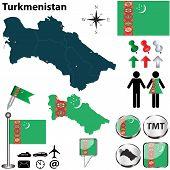 Map Of Turkmenistan