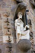 Detail From Sagrada Familia In Barcelona