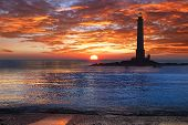 Picturesque nature landscape with Lighthouse.