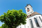 View On Famous St.johann Church, Schaffhausen, Switzerland.