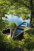 Sunken Boat On The River