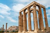 foto of olympian  - The Temple of Olympian Zeus in Athens  - JPG