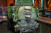 Medusa head in Basilica Cistern
