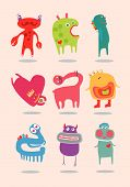 Just funny monsters for children.