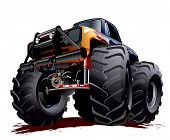 picture of bigfoot  - Vector Cartoon Monster Truck - JPG