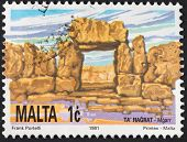 Megalithic Ta Hagrat Temple In Mgarr, Malta
