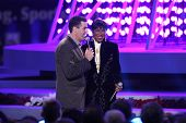 Adam Carolla and Natalie Cole   at the Debut of L.A. Live's 'Light of Angels'. L.A. Live, Los Angeles, CA. 12-04-08