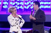 Britney Spears and Adam Carolla   at the Debut of L.A. Live's 'Light of Angels'. L.A. Live, Los Ange