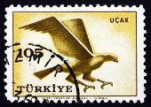 Postage Stamp Turkey 1959 Hawk, Bird Of Prey