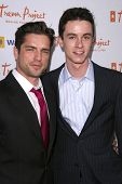 Scott Bailey and Ryan Kelley  at the Trevor Project's 11th Annual Cracked Xmas Fundraiser. The Wiltern Theatre, Los Angeles, CA. 12-07-08