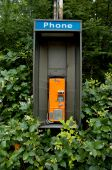 an obsolete phone booth
