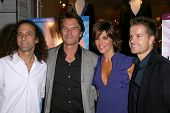 Kenny G and Harry Hamlin with Lisa Rinna and Louis van Amstel   at the launch party for 'Dance Body