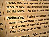 Dictionary Profiteering