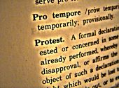 Dictionary Protest