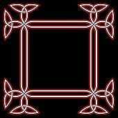 foto of triquetra  - Celtic Border Frame Isolated on Black Background - JPG