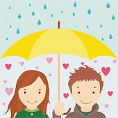 Enamored Under An Umbrella.eps
