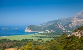 Adriatic Sea Coastal Landscape. Buljarica, Montenegro